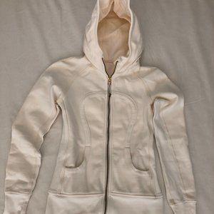 Lululemon white fullzip hooded coat